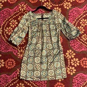 Vintage dress-geometric pattern
